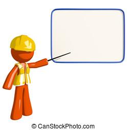 Orange Man Construction Worker  Seminar
