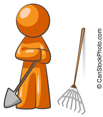 Orange Man Rake