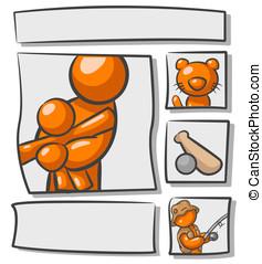 Orange Man Scrap Book Photo Album - Orange Man part of a...