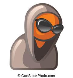 Orange Man with Sunglasses and Hoodie
