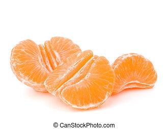 Orange mandarin or tangerine fruit