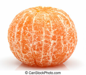 Orange mandarin or tangerine fruit isolated