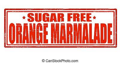 Orange marmelade - Stamp with text orange marmelade inside,...