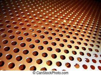 Metal Abstract - Orange Metal Abstract