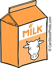 orange milk box