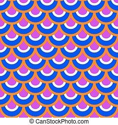 orange, modèle, bleu, seamless