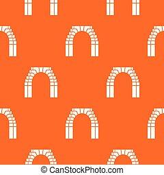 orange, modèle, brique, vecteur, voûte