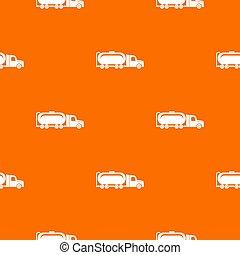 orange, modèle, camion huile