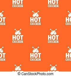 orange, modèle, chaud, vecteur, poulet