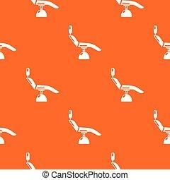 orange, modèle, dentiste, vecteur, chaise