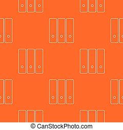 orange, modèle, dossier, vecteur, bureau