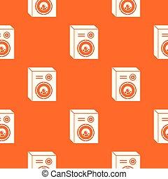 orange, modèle, interlocuteurs, vecteur, studio