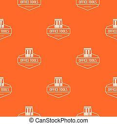 orange, modèle, outillage, vecteur, bureau