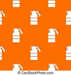 orange, modèle, récipient, pulvérisateur
