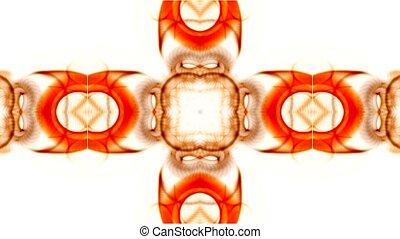orange, modèle, rotation, fleur