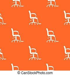orange, modèle, salon, vecteur, chaise