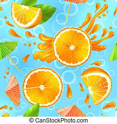 orange, modèle, seamless