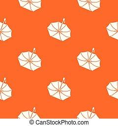 orange, modèle, tomber, vecteur, parapluie
