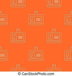 orange, modèle, vecteur, écusson, bureau
