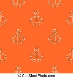 orange, modèle, vecteur, ancre