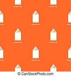 orange, modèle, vecteur, boîte aérosol