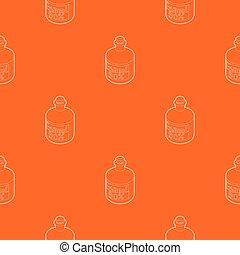 orange, modèle, vecteur, bouteille, éthanol