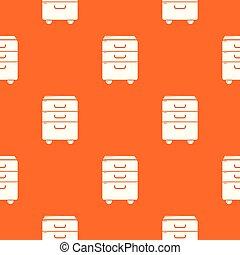 orange, modèle, vecteur, bureau, placard