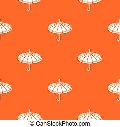 orange, modèle, vecteur, parapluie