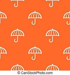 orange, modèle, vecteur, parapluie, dessin