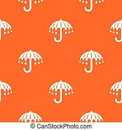 orange, modèle, vecteur, parapluie, mouillé