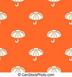 orange, modèle, vecteur, parapluie, nylon