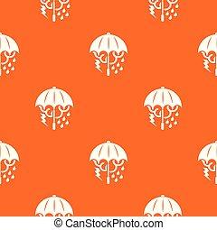 orange, modèle, vecteur, parapluie, orage
