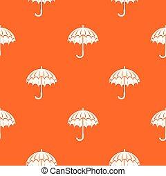 orange, modèle, vecteur, parapluie, ouvert