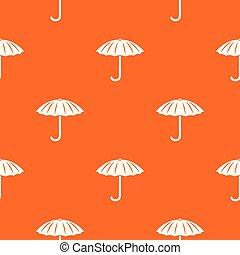orange, modèle, vecteur, parapluie, protection