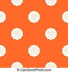 orange, modèle, vecteur, parapluie, rond