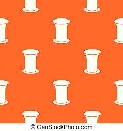 orange, modèle, vecteur, seau, bureau