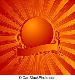 orange, moderne, bouclier