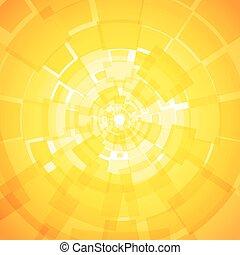 orange, moderne, fond jaune