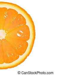 orange, moitié