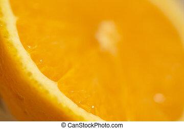 orange, moitié, valence, espagnol, coupure