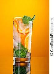 orange, mojito, cocktail.