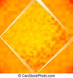 Orange mosaic tiles. Vector illustration, contains...