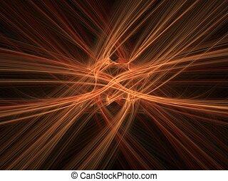 orange, mouvement, fond, barbouillage