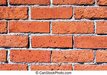 orange, mur, brique, rouges
