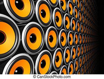 orange, mur, interlocuteurs