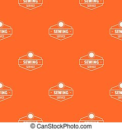 orange, muster, vektor, service, nähen