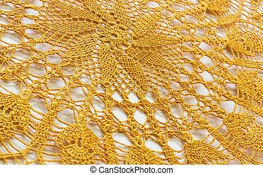 Orange Napkin, crocheted