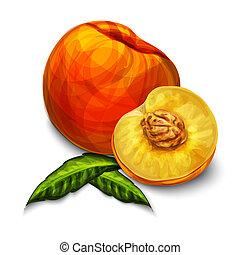 Orange natural organic peach fruit - Orange natural organic...