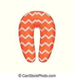 Orange neck pillow vector Illustration on a white background