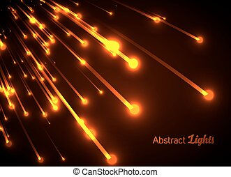Orange neon light rays.